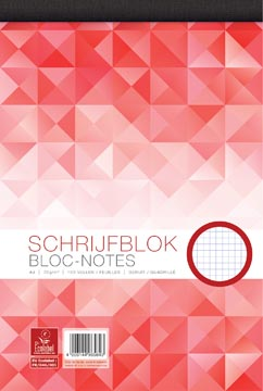 Work schrijfblok, ft A4, 70 g/m², 100 vel, geruit 5 mm