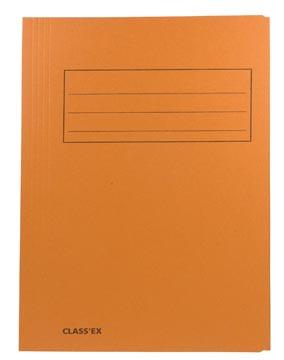 Class'ex dossiermap, 3 kleppen ft 23,7 x 32 cm (voor ft A4), oranje