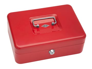 Wedo geldkoffer, ft 25 x 18 x 9 cm, rood