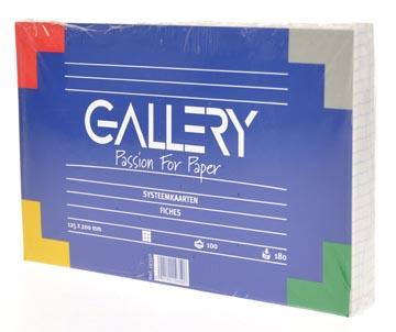 Gallery witte systeemkaarten, ft 12,5 x 20 cm, geruit 5 mm, pak van 100 stuks