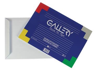 Gallery enveloppen ft 229 x 324 mm, gegomd, binnenzijde blauw, pak van 10 stuks