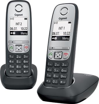 Gigaset A415 DECT draadloze telefoon, met extra handset, zwart