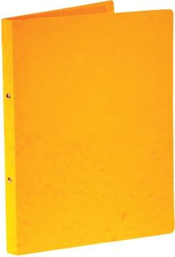 Bronyl ringmap, voor ft A4, uit glanskarton, 2 ringen van 16 mm, geel