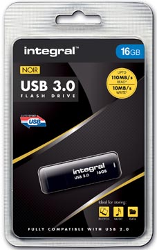 Integral USB stick 3.0, 16 GB, zwart