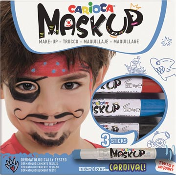 Carioca maquillagestiften Mask Up Carnival, doos met 3 stiften