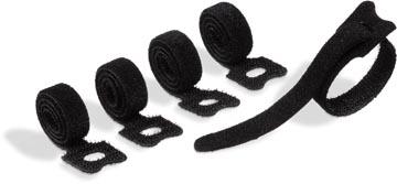 Durable Cavoline Grip Tie kabelbinder met klittenband, zwart, pak van 5 stuks