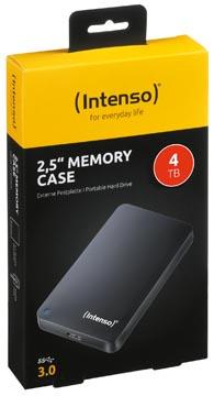 Intenso Memory Case draagbare harde schijf, 4 TB, zwart