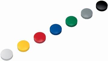Maul magneet MAULsolid, diameter 32 x 8,5 mm, geassorteerde kleuren, doos met 10 stuks