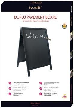 Securit stoepbord Sandwich ft 70 x 125 cm, zwart