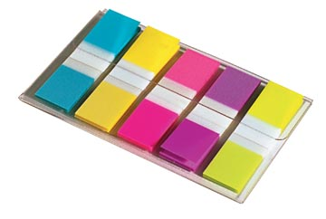 Post-it Index Smal, ft 12 x 43 mm, blister met 5 kleuren, 20 tabs per kleur
