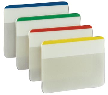 Post-it Index Strong, ft 50,8 x 38 mm, voor ordners, set van 24 tabs, 4 kleuren, 6 tabs per kleur