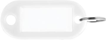 Sleutelhanger wit, doos van 100 stuks