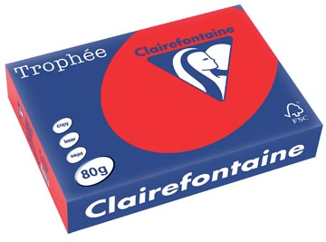 Clairefontaine Trophée Intens A4, 80 g, 500 vel, koraalrood