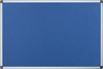 Pergamy textielbord met aluminium frame ft 60 x 90 cm, blauw
