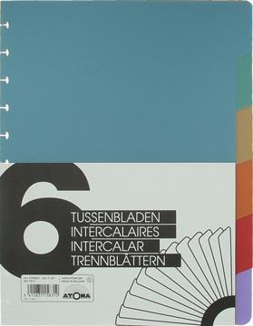 Atoma, set van 6 tabbladen, ft A4+, geassorteerde kleuren