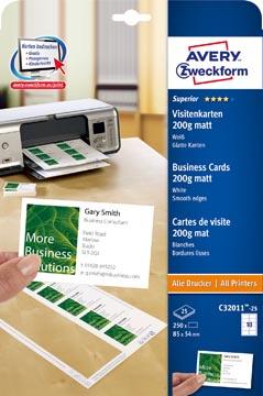 AVERY visitekaarten Quick&Clean 200 g/m²