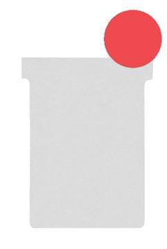 Nobo T-planbordkaarten index 2, ft 85 x 60 mm, rood