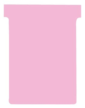 Nobo T-planbordkaarten index 3, ft 120 x 92 mm, roze